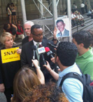 Press conference in New York with Center for Constitutional Rights Executive Director Vince Warren
