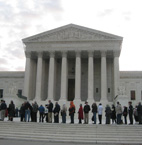 Crowds gather for argument in U.S. v. Stevens, Oct. 6, 2009